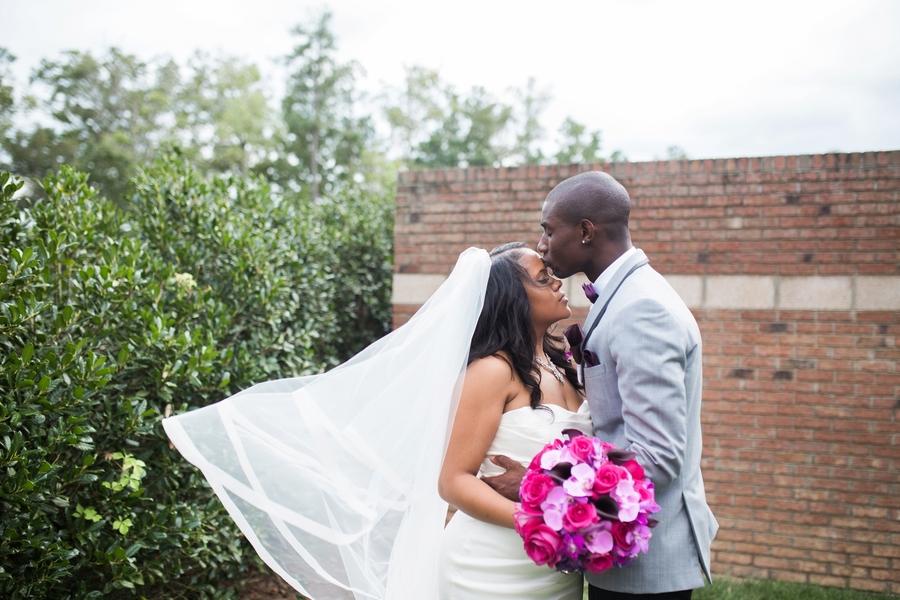 Elegant Purple & Fuchsia North Carolina Wedding