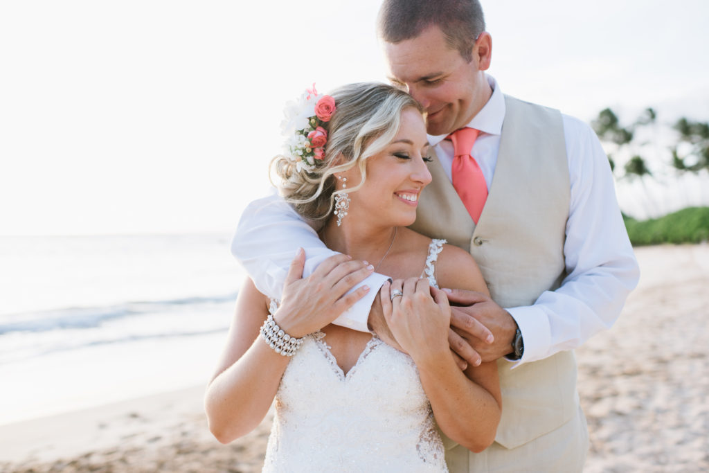 An Intimate Coral Hawaii Destination Wedding
