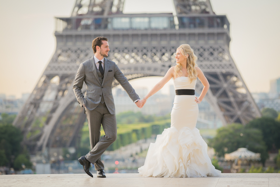 Vintage-Style Summer Elopement in Paris – Alan and Sharron