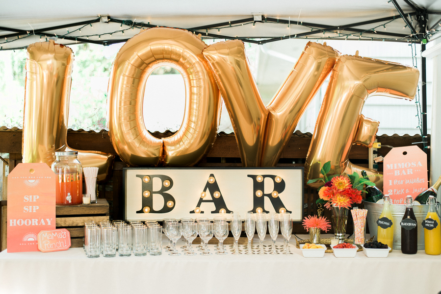 Backyard Mimosa Bar Engagement Party