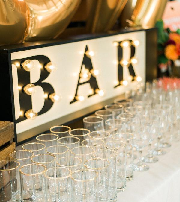 Backyard Mimosa Bar Engagement Party