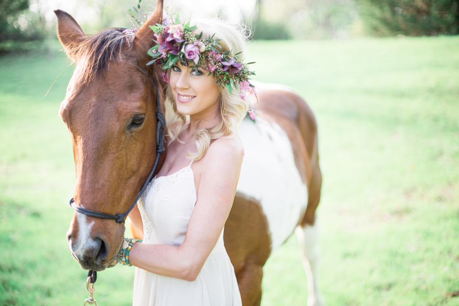 A Bohemian Equestrian Bridal Shoot by Adria Lea Photography