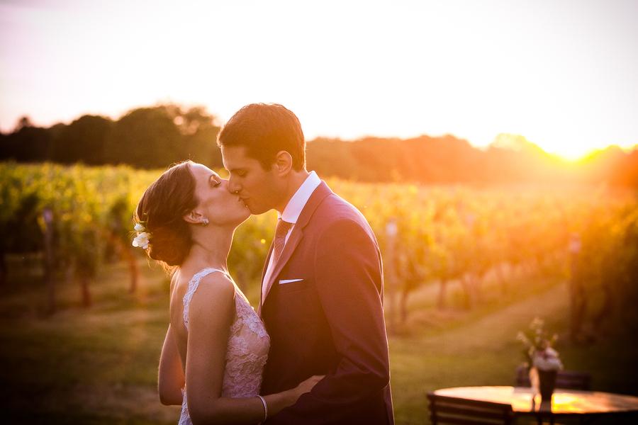 A Sunset Vineyard Wedding on Long Island