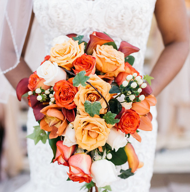Kerena and Wendell's Vibrant Orange & Gold Canada Wedding