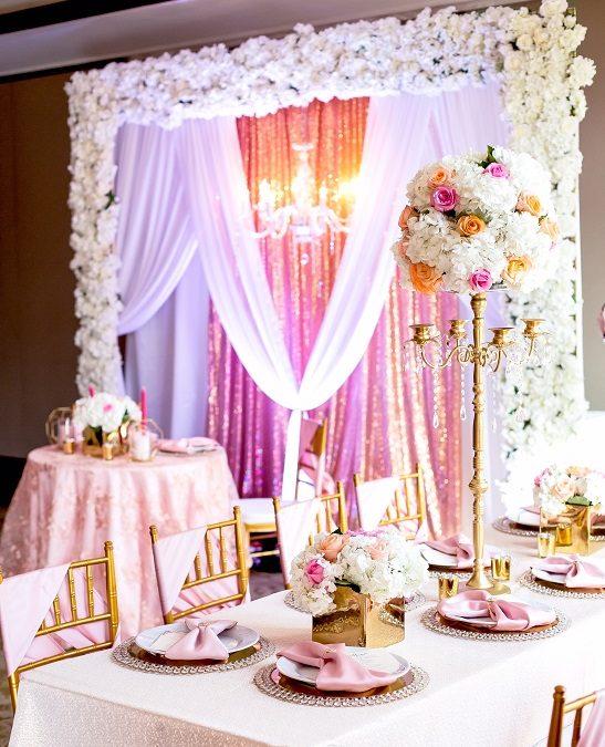 Blush Elegance Styled Shoot – Events By Khadejah 3 Year Anniversary