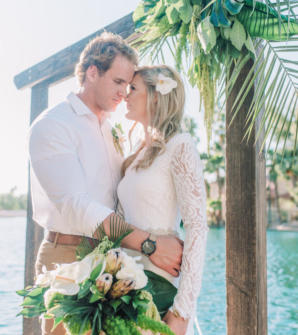 Modern Palm Elopement In Arizona