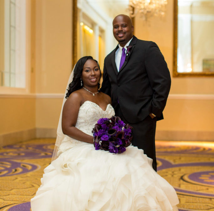 Purple & Silver Glam DC Wedding