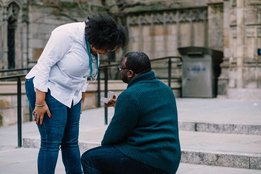Yale University Campus Surprise Proposal – Shawnee & Andre