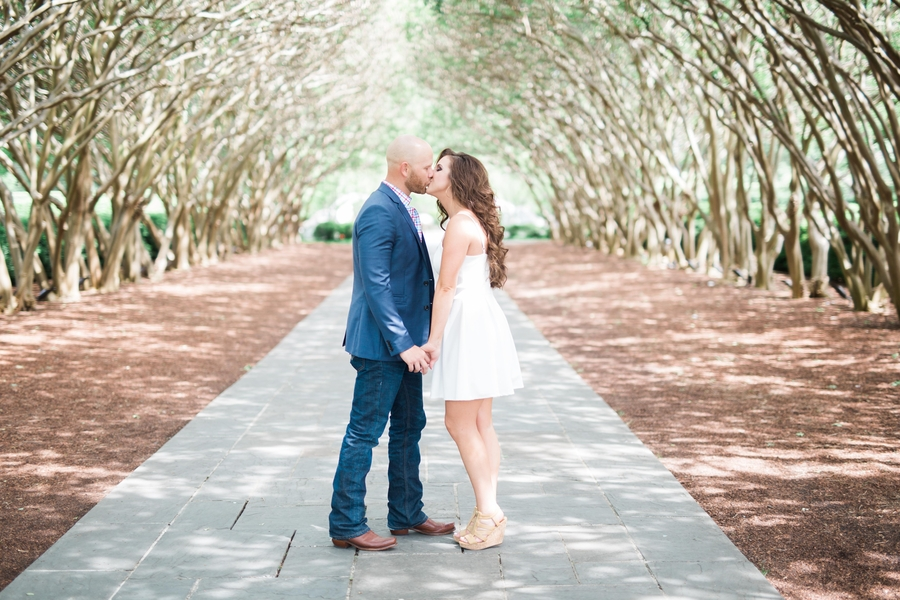 A Botanical Garden Engagement Shoot in Texas
