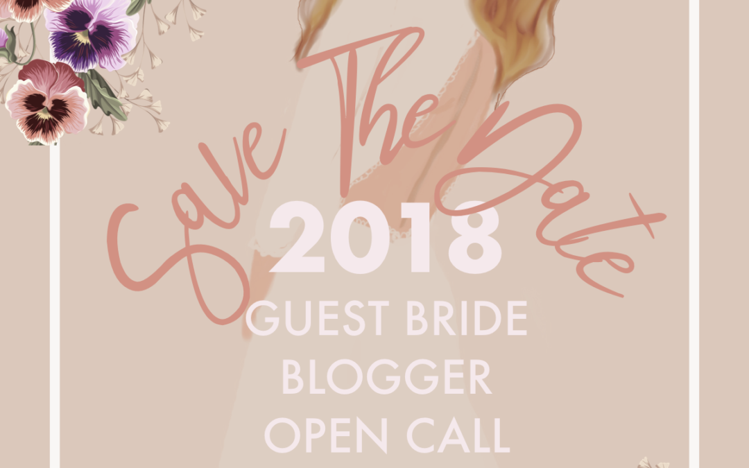 Become a 2018 Guest Bride Blogger