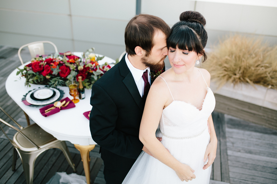 Rooftop Wedding Inspiration in Roanoke