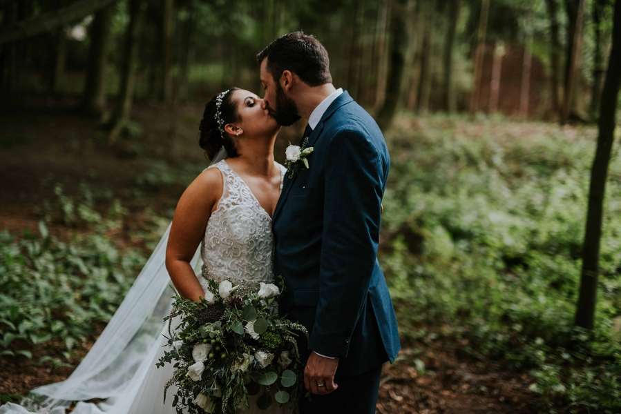 A Romantic Michigan Wedding in the Woods