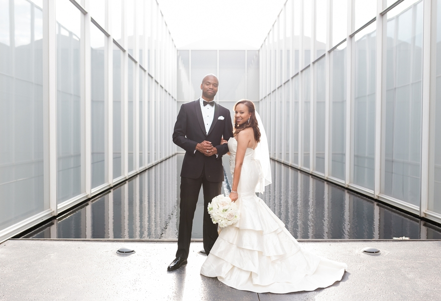 Modern Wedding at the Art Museum in North Carolina