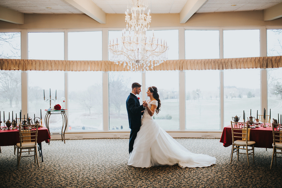 Modern Beauty And The Beast Styled Shoot