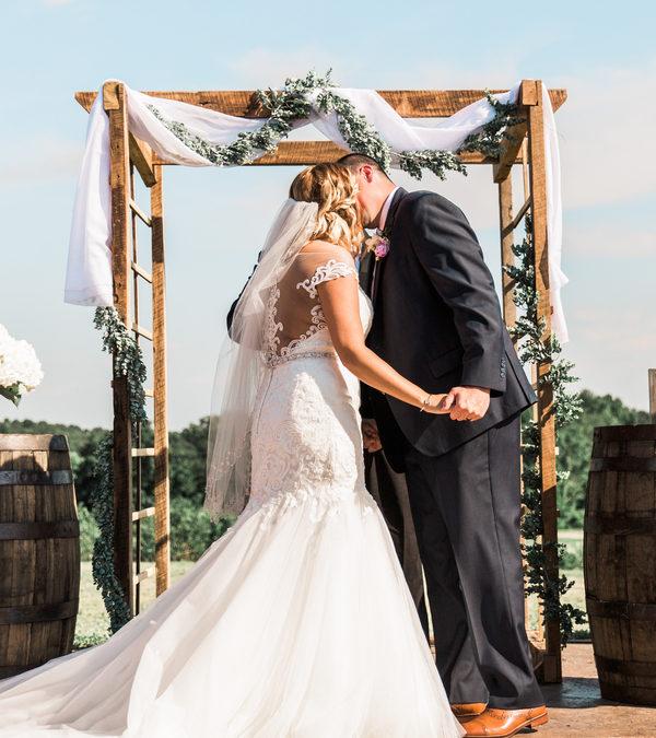 Summer Evening Vineyard Wedding: Cassie & Brett