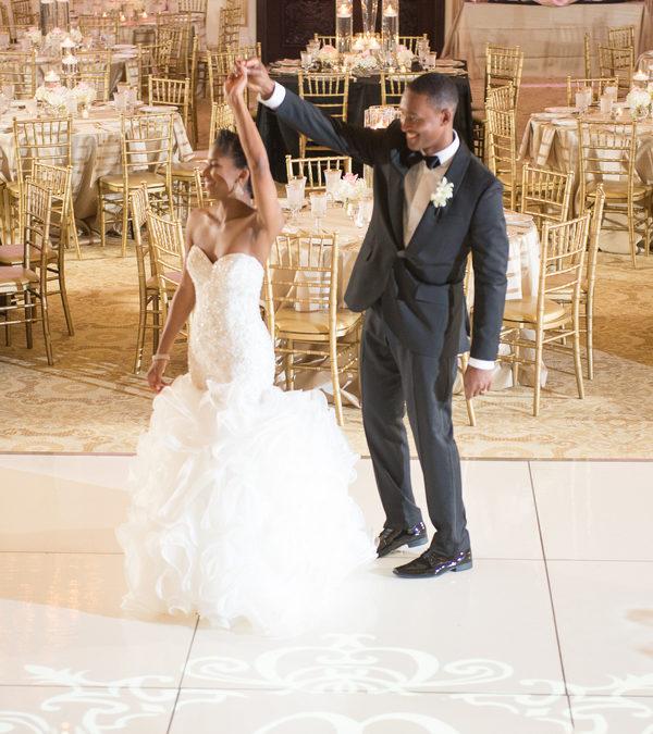 Blush and Gold Wedding in North Carolina – Olivia and KeyShaun