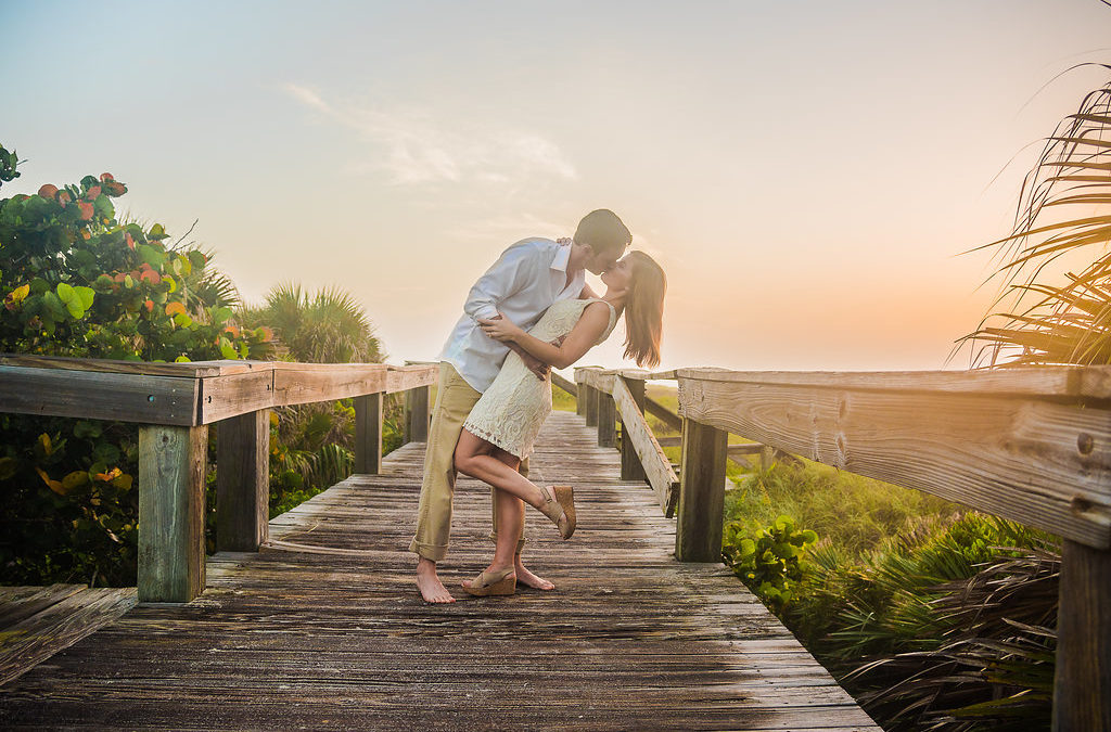Caitlin and Hunter's Florida Beach Engagement Shoot