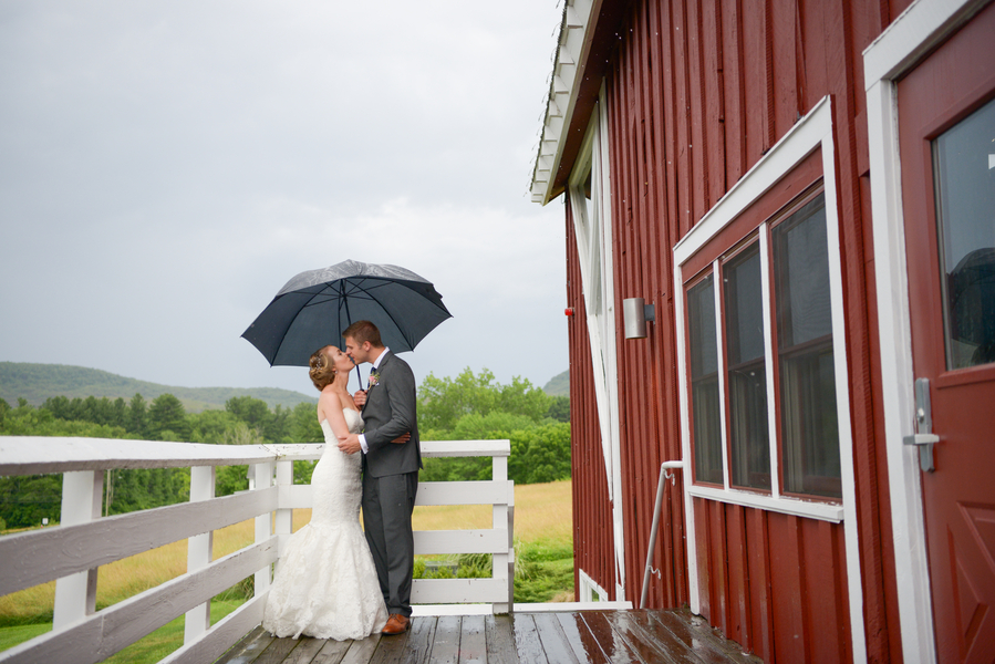 A Rainy & Rustic Hampshire College Wedding