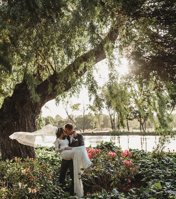 A Blush, Ivory & Gray Vintage Garden California Wedding