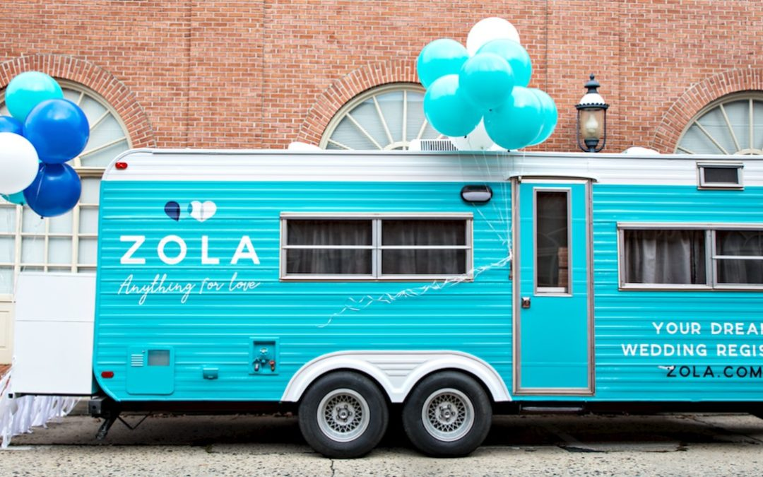 Share Your Love Story on Zola's Big Blue Bus