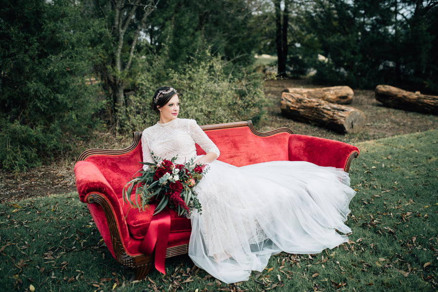 Velvet & Pomegranate Themed Winter Shoot – Rebecca Chesney Photo & Film