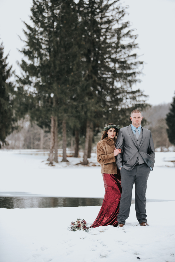 Elegant Amp Moody West Virginia Winter Elopement The