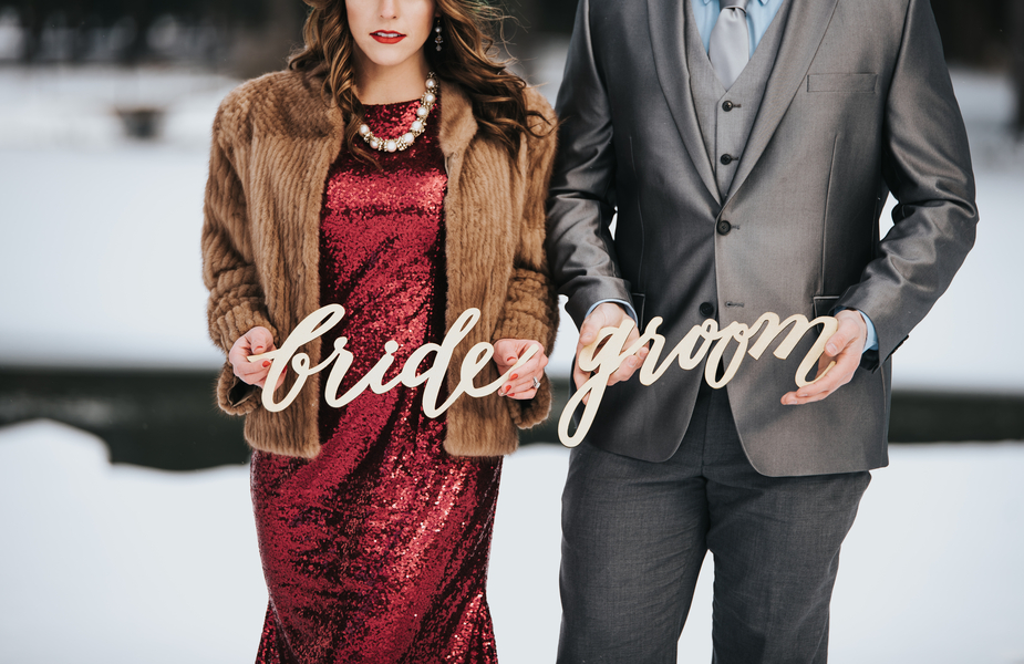 Elegant & Moody West Virginia Winter Elopement