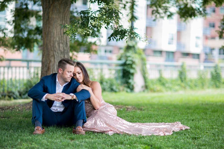 Romantic Sequin Rose Gold Engagement Session
