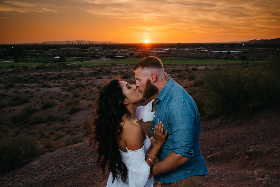 An Arizona Desert Park Engagement Session