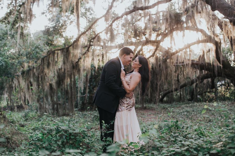 Elegant Woodsy Florida Engagement Session: Francheska & Kevin