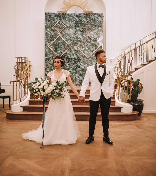 Modern Art Deco Styled Shoot in the Chandelier Room