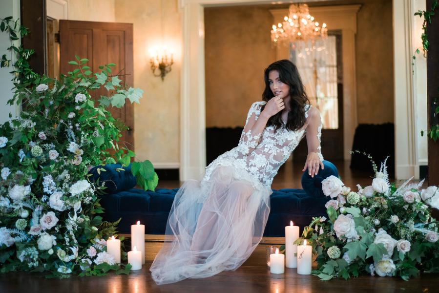 Intimate Bridal Boudoir at the Riverwood Mansion Nashville