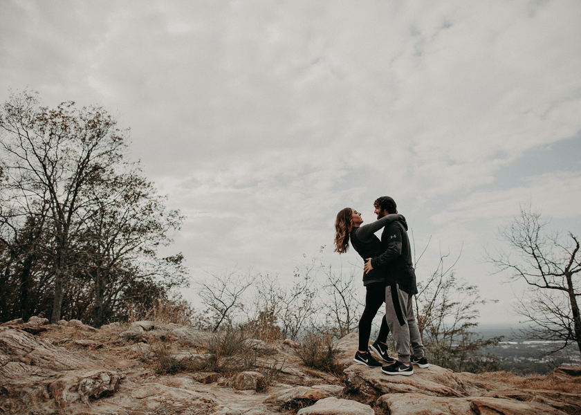 A Kennesaw Mountain Engagement Session, Angoleta & Jake