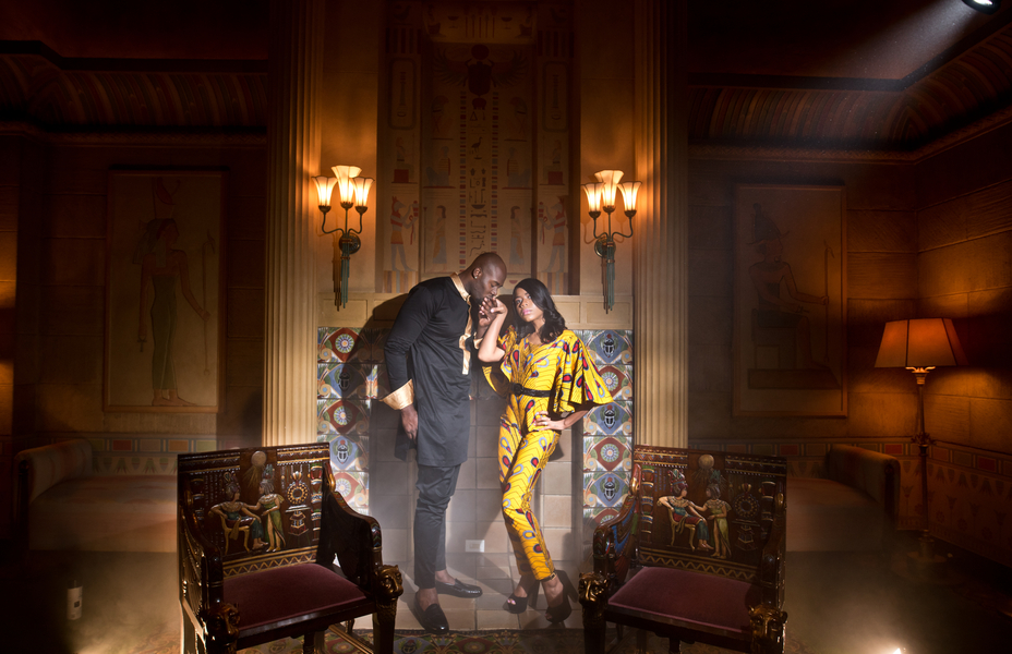 Romantic Engagement Shoot at the Fox Theater in Atlanta – Margo and Bassey