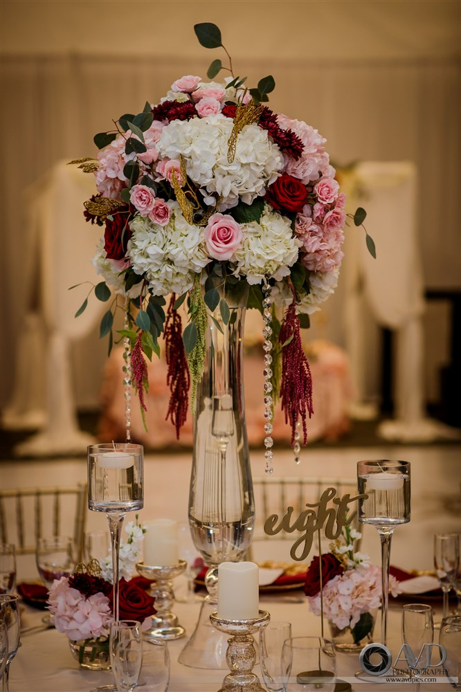 A Florida Wedding With Dusty Rose Merlot Amp Gold The