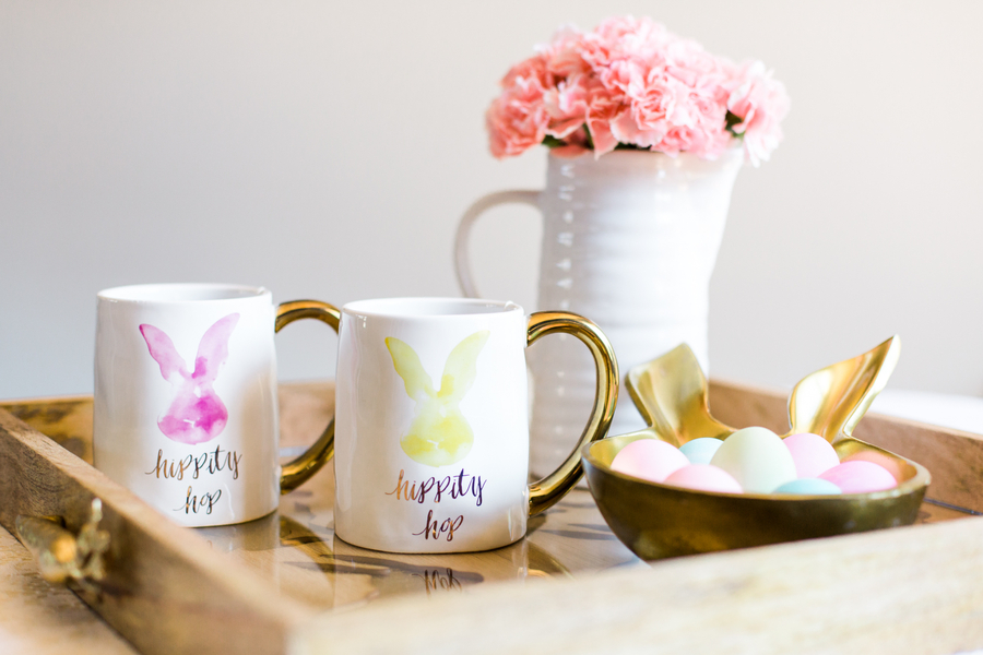 Easter Tablescape for Two