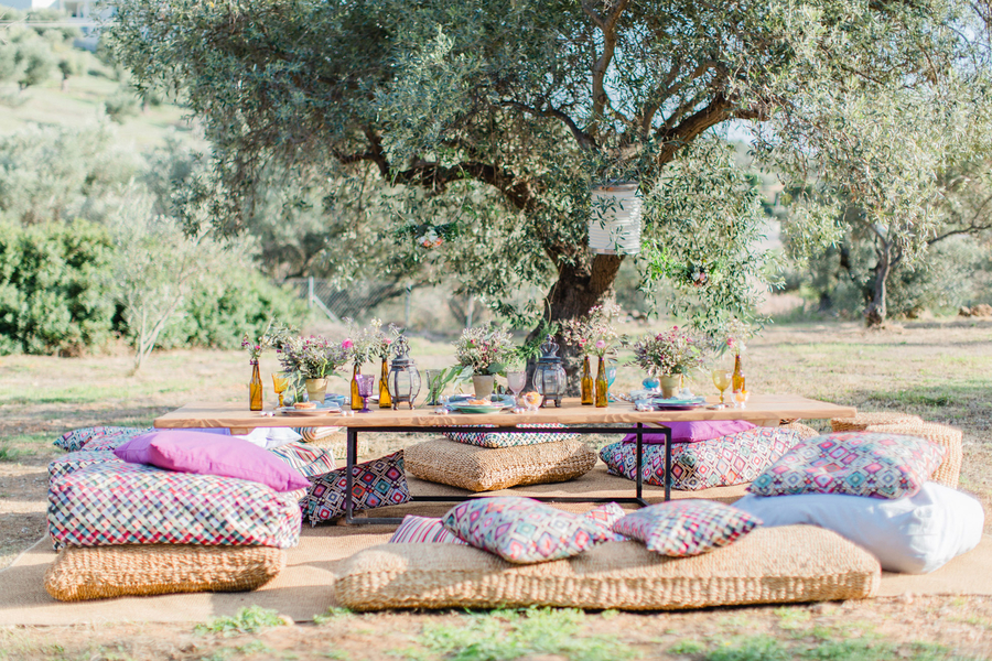 Chic Bohemian Wedding Inspiration in Greece