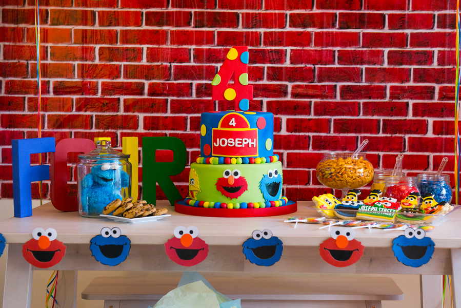 Diy Sesame Street Themed Birthday Party The Coordinated