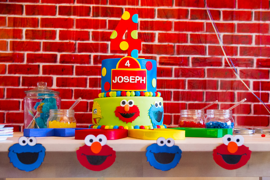 DIY Sesame Street Themed Birthday Party