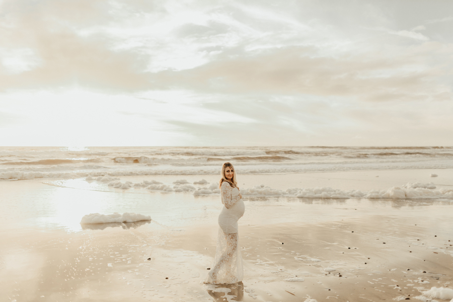 Maternity Shoot in the Clouds