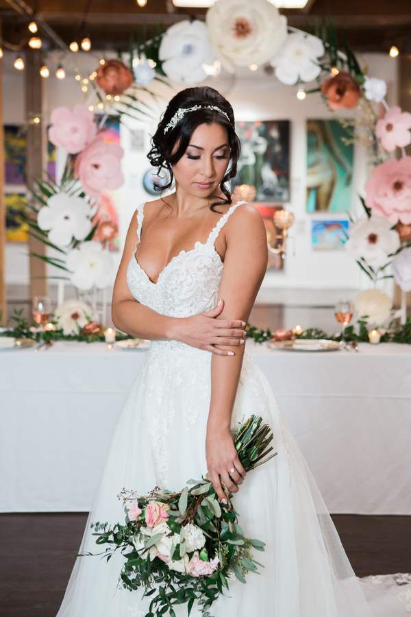 An Indoor Garden Glamour Styled Shoot