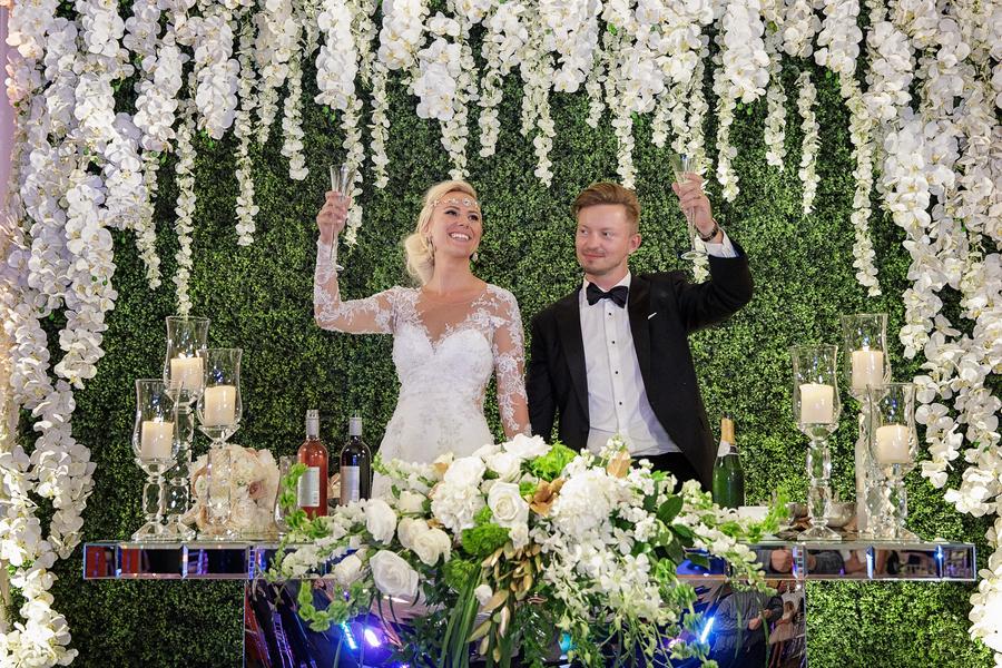A Lavish Ivory & Gold Chicago Summer Wedding, Maggie & Jerry