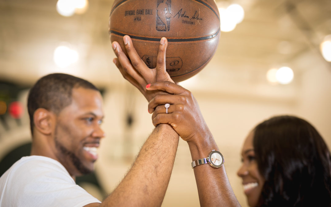 A Love & Basketball Themed Engagement Shoot, Erica & Greg