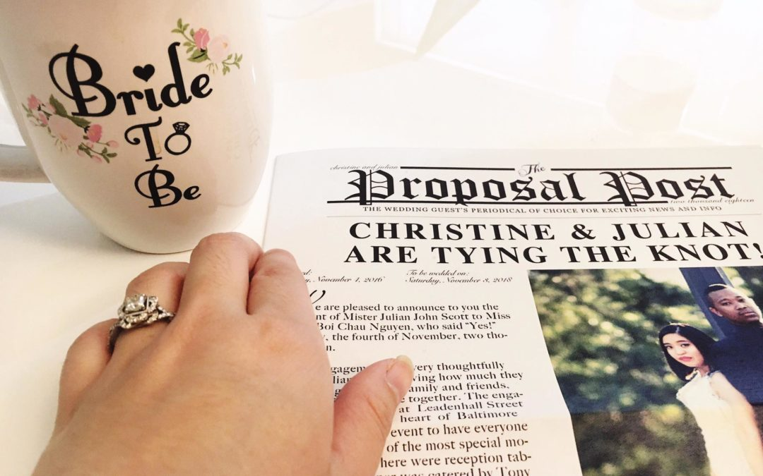 Guest Bride Blogger Christine {JE#2}- Extra! Extra! Read All About It!