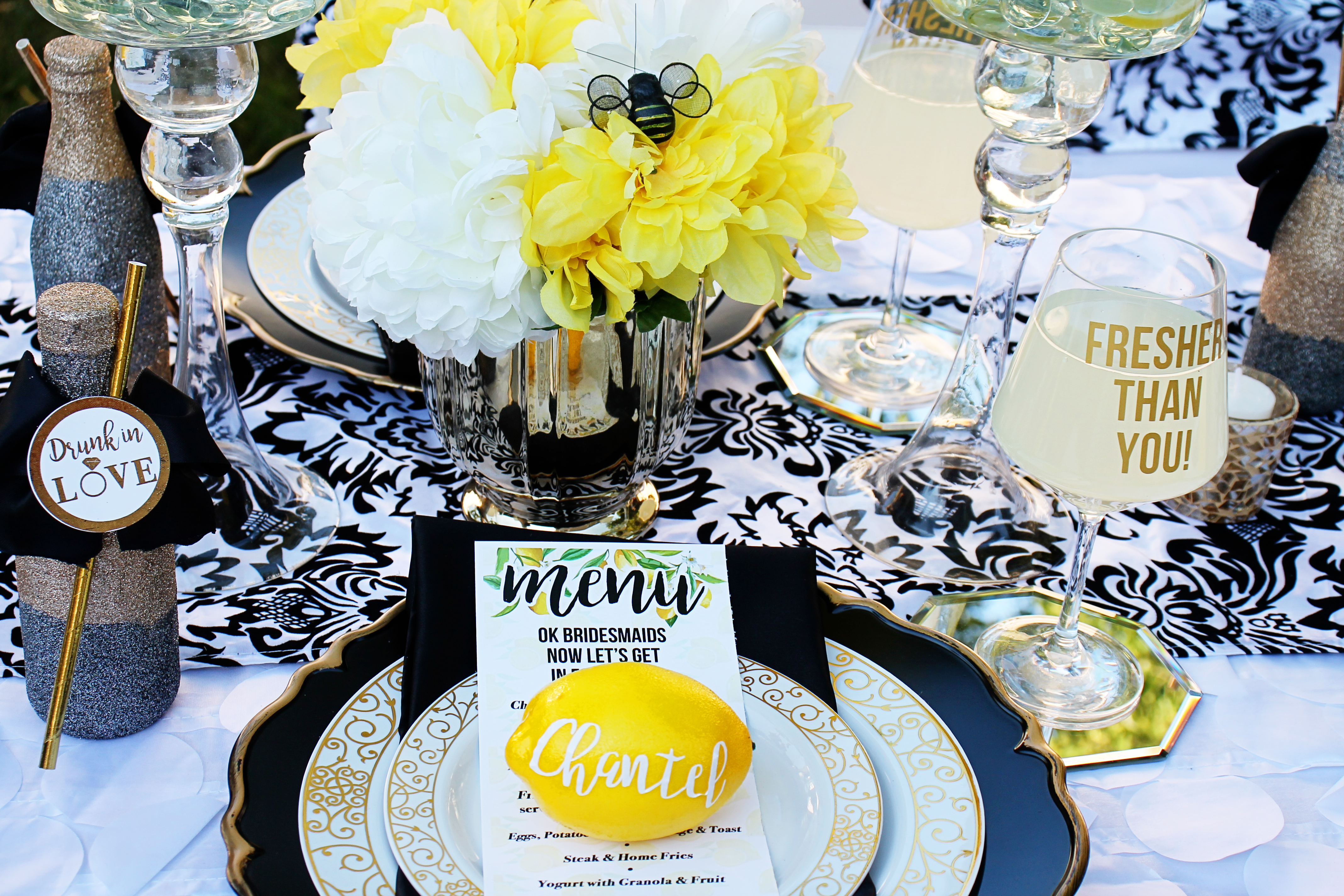 Lemon Themed Bridal Shower The Coordinated Bride