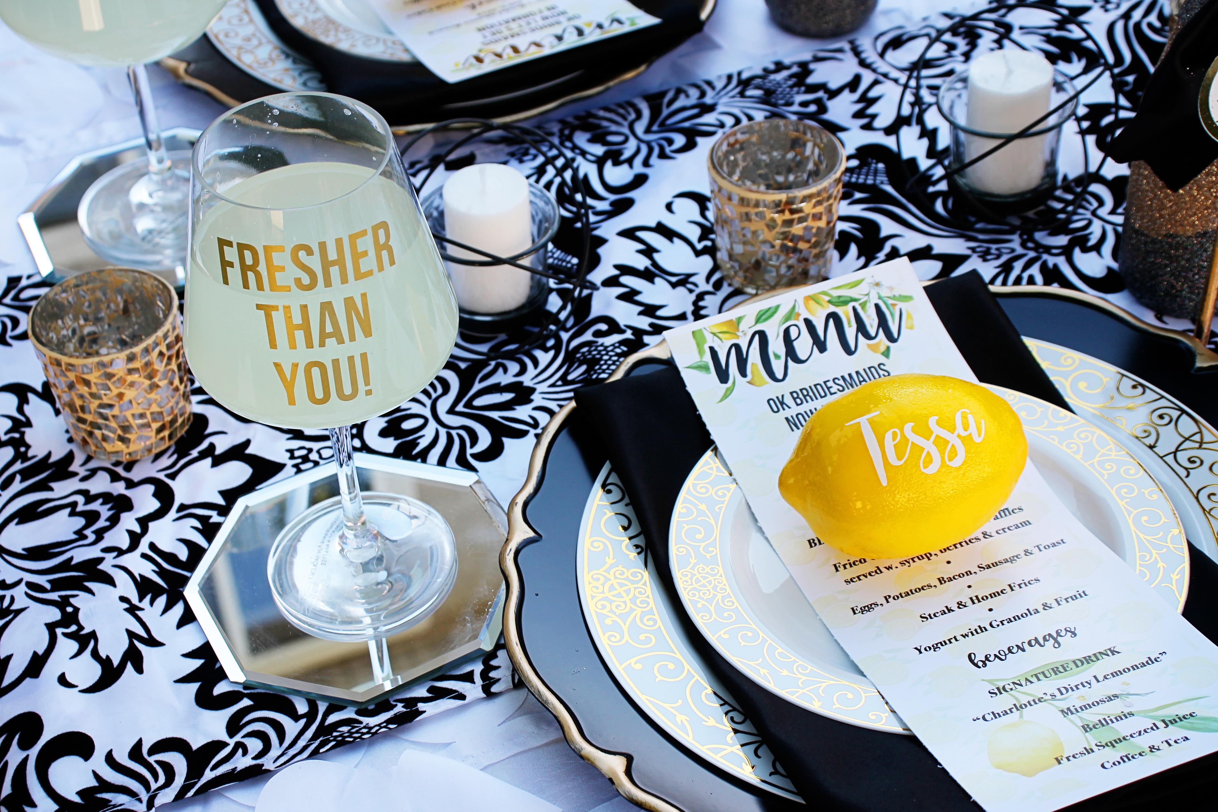 Lemon Themed Bridal Shower The Coordinated Bride