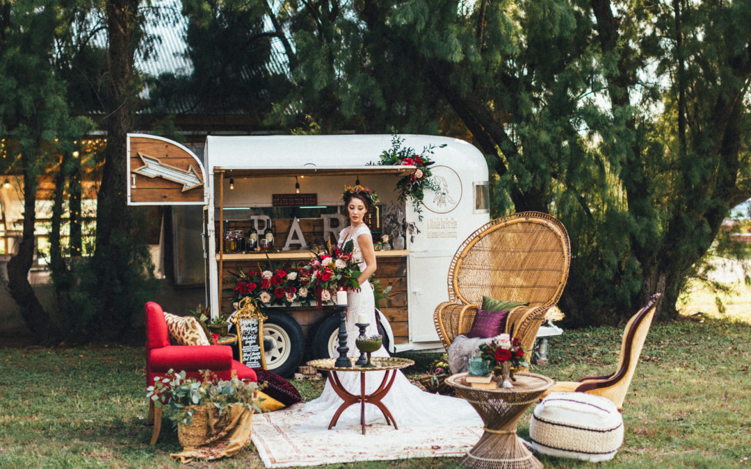 Crimson & Candlelight, A Moody, Bohemian Texas Styled Shoot