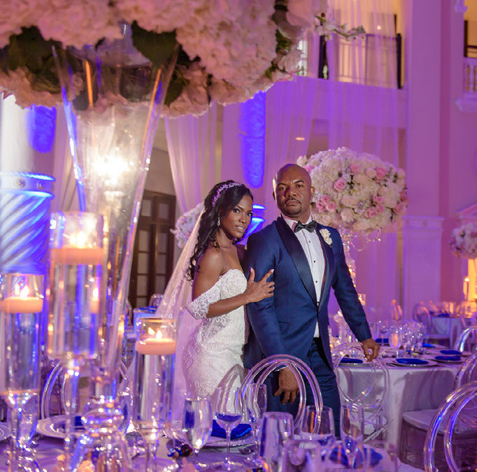 Glamorous Cobalt and Silver Miami Wedding: Isabelle and Hubert