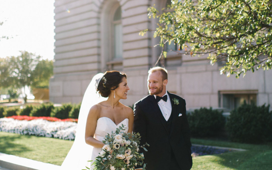 Romantic, Floral-filled Wedding at City Hall: Kelsey & Eric