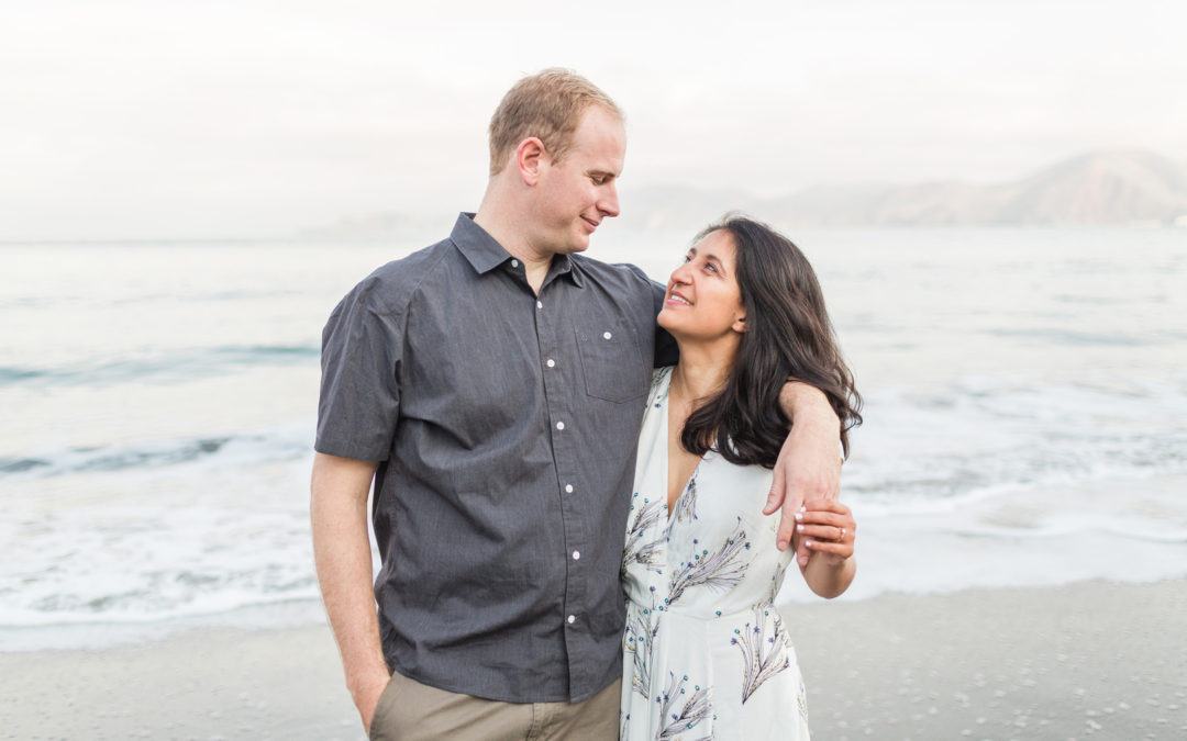 San Francisco China Beach Engagement Session: Simona & Ward